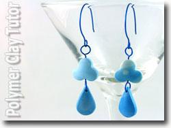 Raindrop Polymer Clay Earrings