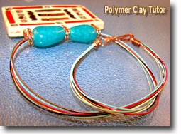Softflex Wire Polymer Clay Pendant