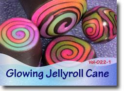 Glow In The Dark Jelly Roll Cane