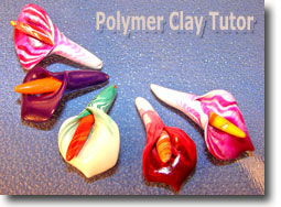Polymer Clay Calla Lily Beads