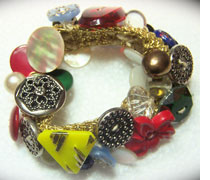 Carolyn Fiene Button Bracelet Made By Her Grandmother