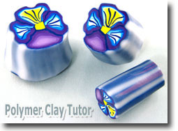 Johnny Jump Up (Pansy) Polymer Clay Flower Canes