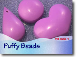 Hollow Puffy Polymer Clay Beads