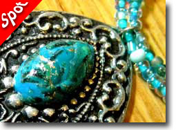 Turquoise Polymer Clay Jewelry by Catalina