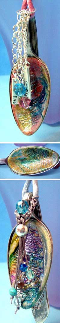 Polymer Clay Spoon Jewelry by Lupe Meter