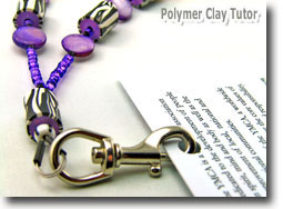 Beaded Lanyard by Polymer Clay Tutor
