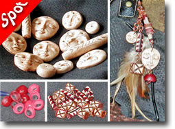 Polymer Clay Tribal Purse Bead Project by Lisa Whitham
