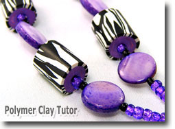 Zebra Print Lanyard Beads