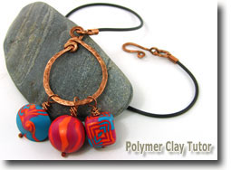 Polymer Clay Circus Theme Jewelry by Cindy Lietz