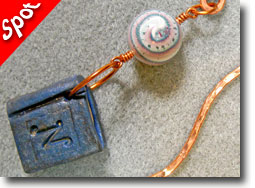 Polymer Clay and Copper Bookmarks by Carolyn Fiene
