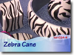 Polymer Clay Zebra Cane Project
