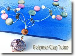 Faux Raku Focal Bead Necklace by Cindy Lietz