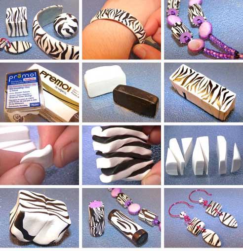 Polymer Clay Zebra Cane Tutorial