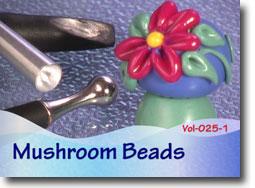 Polymer Clay Mushroom Beads