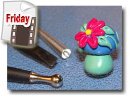 Polymer Clay Mushroom Beads Tutorial