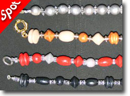 Tri-Bead Roller Bracelets by Mary Grech
