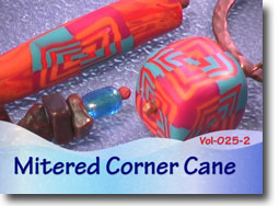 Polymer Clay Mitered Corner Cane Beads