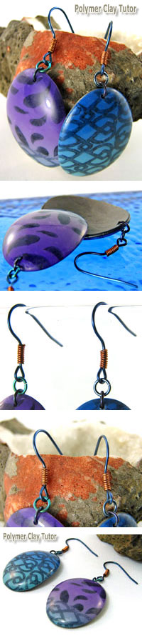 Polymer Clay Earrings by Cindy Lietz