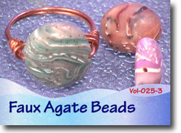 Polymer Clay Faux Agate Beads