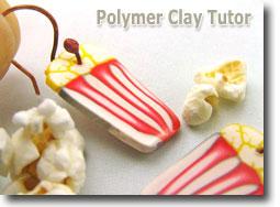 Polymer Clay Popcorn Earrings