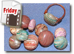 Polymer Clay Faux Agate Beads Tutorial