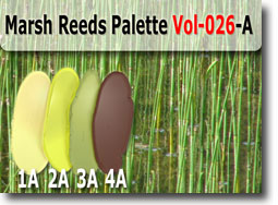 Marsh Reeds Polymer Clay Color Palette