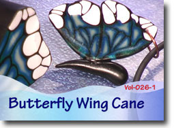 Polymer Clay Butterfly Wing Cane
