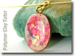 Polymer Clay Faux Opal Bezel