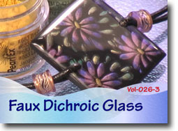 Polymer Clay Faux Dichroic Glass
