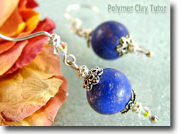 Delphinium Flower Petal Earrings - Polymer Clay