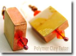Copper Cube Art Sheet Earrings