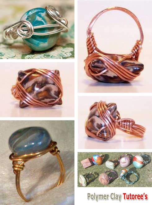 Wire Wrapped Coin Bead Rings