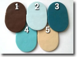 Seaside Cottage Palette, Kato Polyclay Color Recipes by Sue Fisher