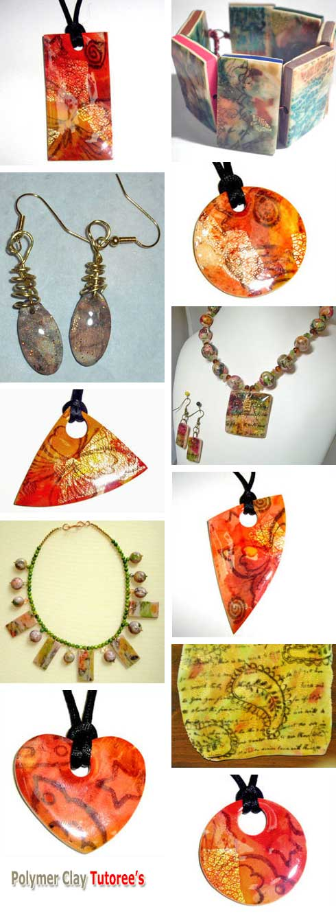 Polymer Clay Art Sheets Jewelry