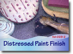 Distressed Paint Finish on Polymer Clay