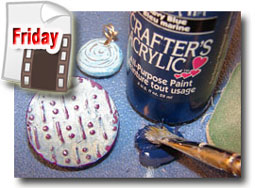 Polymer Clay Distressed Paint Finish