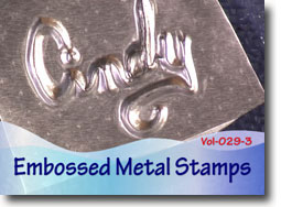 Embossed Metal Stamps for Polymer Clay