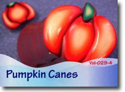 Polymer Clay Pumpkin Canes