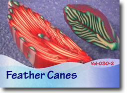 Polymer Feather Canes