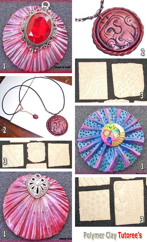 Polymer Clay Texture Plates and Jewelry