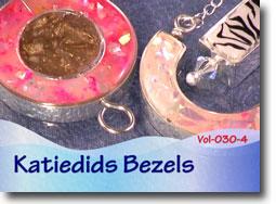 Polymer Clay Katiedids Bezels