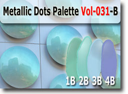 Metallic Dots Polymer Clay Color Palette
