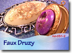 Polymer Clay Faux Druzy Jewelry