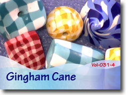 Gingham Polymer Clay Cane Beads