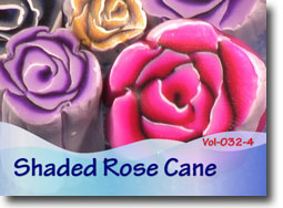 Backgroundless Shaded Rose Cane