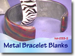 Hammered Metal Bracelet Blanks