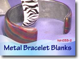 Hammered Metal Bracelet Blanks