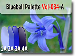 Bluebell Polymer Clay Color Palette