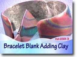 Adding Clay To Metal Bracelet Blanks