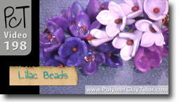 Lilac Shaped Polymer Clay Beads